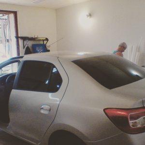 Затонировать заднюю полусферу автомобиля Renault Logan пленкой SunControl 5%